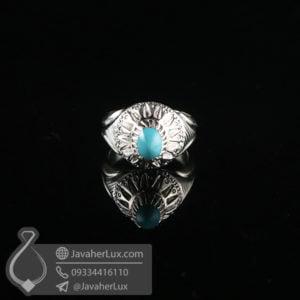 انگشتر مردانه فیروزه نیشابوری اصلی _ کد : 100634