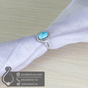 انگشتر نقره زنانه فیروزه نیشابوری اصلی _ کد : 100636