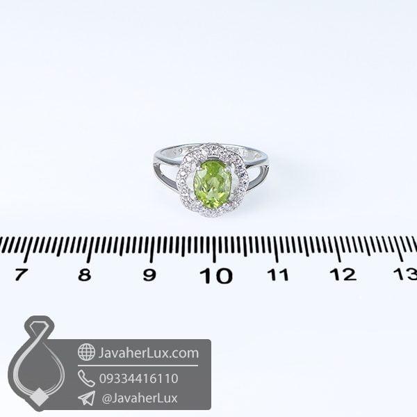 انگشتر نقره زنانه زبرجد _ کد : 100648