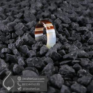 حلقه عقیق سلیمانی _ کد : 400568