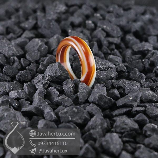 حلقه سنگ عقیق سلیمانی _ کد : 400571