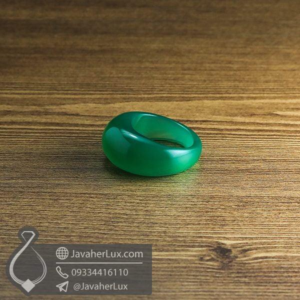 انگشتر سنگ عقیق سبز _ کد : 400537