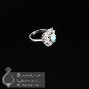 انگشتر فیروزه نیشابوری زنانه _ کد : 100654