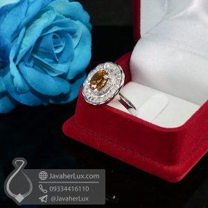 انگشتر نقره زنانه زولتانیت _ کد : 100670
