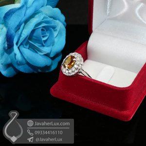 انگشتر نقره زنانه زولتانیت _ کد : 100673