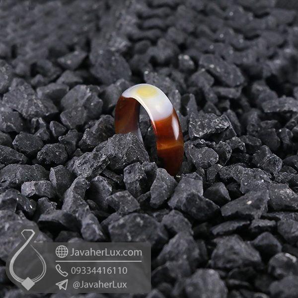 حلقه سنگ عقیق سلیمانی _ کد : 400575