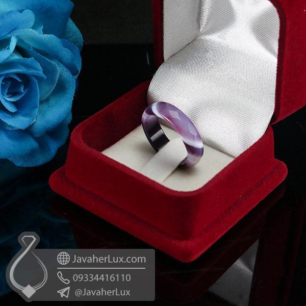 حلقه سنگ عقیق سلیمانی _ کد : 400583