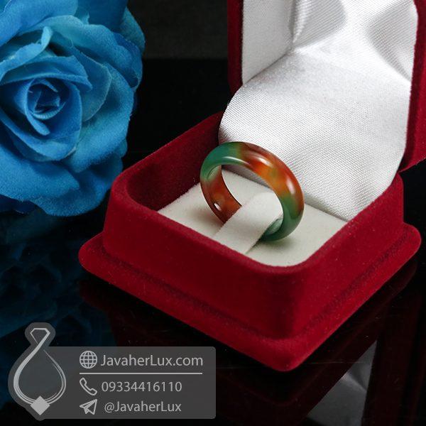 حلقه سنگ عقیق سلیمانی _ کد : 400590