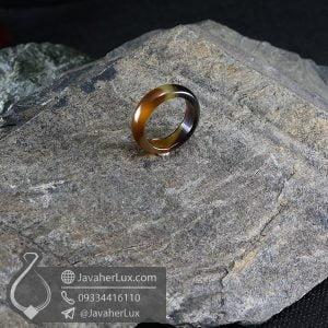 حلقه عقیق سلیمانی مدل نورانژ _ کد : 400613