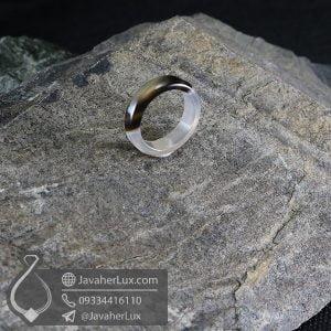حلقه سنگ عقیق سلیمانی مدل وایتین _ کد : 400616