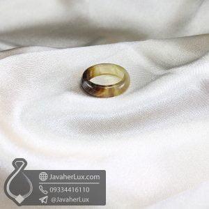 حلقه عقیق سلیمانی _ کد : 400602