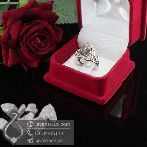 انگشتر زنانه نقره نگین لابرادوریت _ کد : 100696