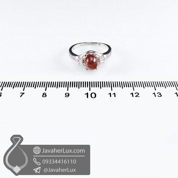 انگشتر نقره زنانه نگین گارنت _ کد : 100697