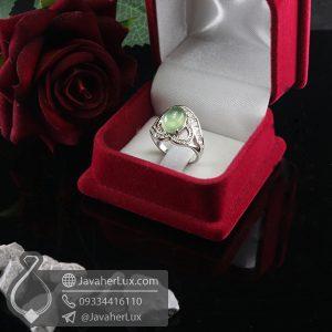 انگشتر نقره زنانه نگین پرهنیت _ کد : 100700