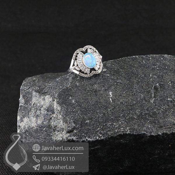 انگشتر نقره زنانه نگین اوپال _ کد : 100701