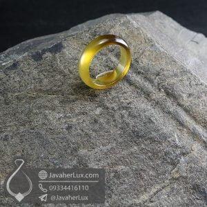 حلقه سنگ عقیق سلیمانی مدل ندران _ کد : 400644