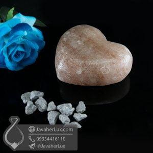 صابون سنگ نمک هالیت دودی تراش قلب _ کد : 400624