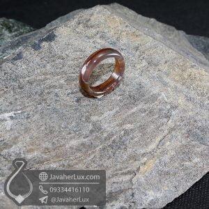 حلقه سنگ عقیق سلیمانی مدل رویانا _ کد : 400626