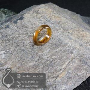 حلقه عقیق سلیمانی مدل ترون _ کد : 400630