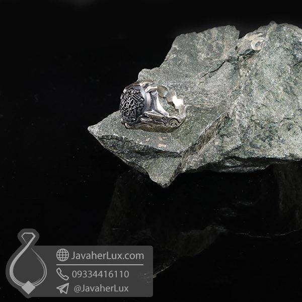انگشتر نقره مردانه حکاکی یا امام حسن مجتبی _ کد : 100706
