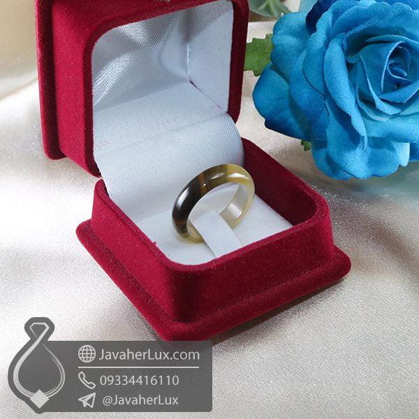 حلقه سنگ عقیق سلیمانی _ کد : 400670