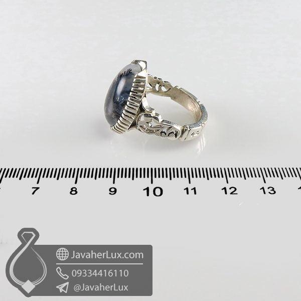 انگشتر نقره مردانه عقیق شجر _ کد : 100708