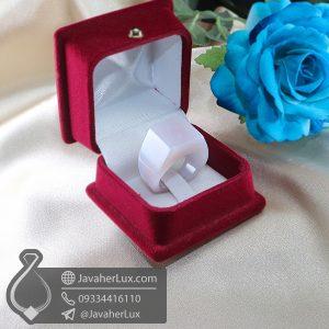 انگشتر سنگ عقیق سفید _ کد : 400678