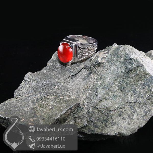 انگشتر نقره مردانه عقیق _ کد : 100711