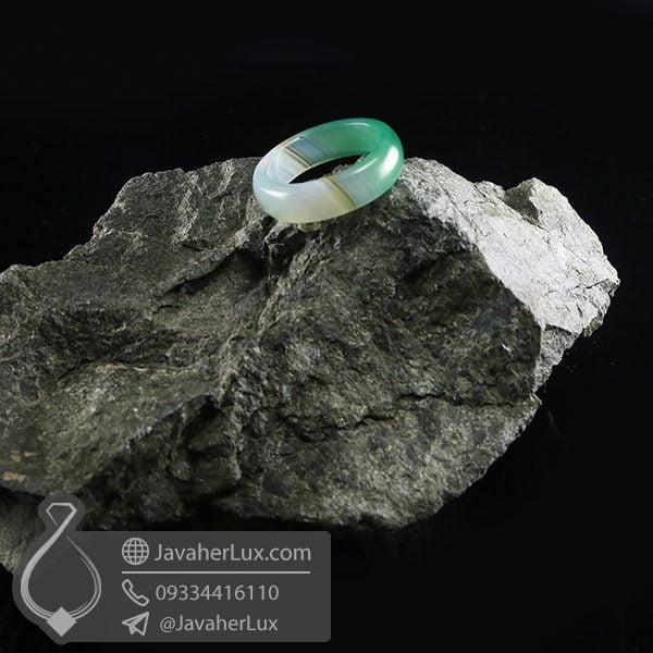 حلقه سنگ عقیق سلیمانی _ کد : 400673