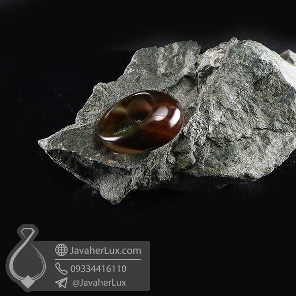 انگشتر سنگ عقیق سلیمانی _ کد : 400681