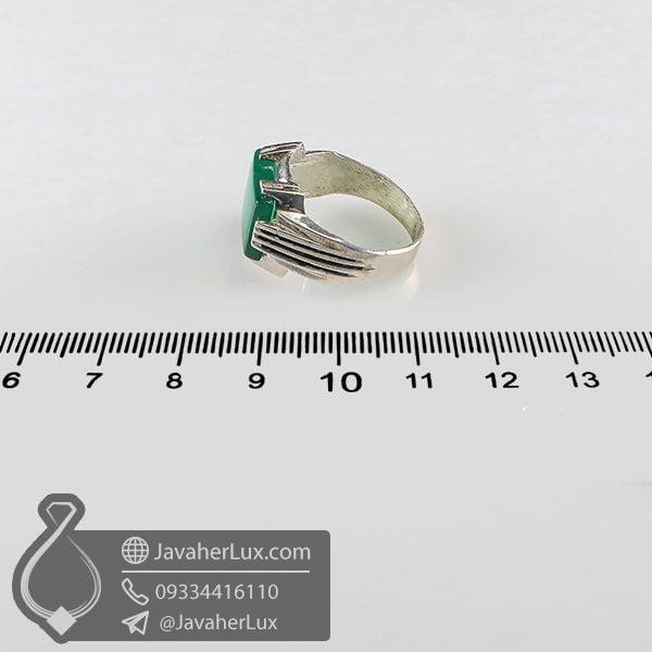 انگشتر نقره مردانه عقیق سبز _ کد : 100712 | انگشتر مردانه | انگشتر نقره | انگشتر نقره عقیق | خرید انگشتر