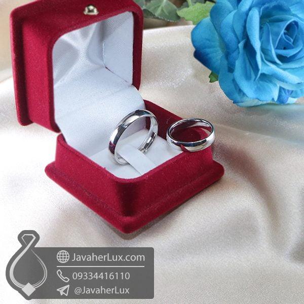 ست حلقه نقره ساده _ کد : 100713 | حلقه ازدواج | حلقه نقره | ست حلقه ازدواج | حلقه ست