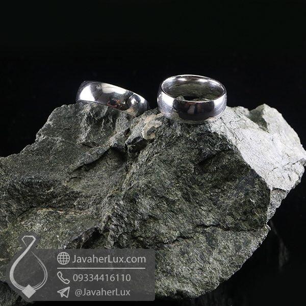 ست حلقه نقره ساده _ کد : 100715 | حلقه ازدواج | حلقه نقره | ست حلقه ازدواج | حلقه ست