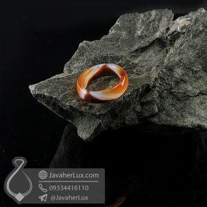 حلقه سنگ عقیق سلیمانی _ کد : 400693