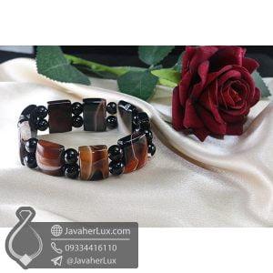 دستبند سنگ عقیق سلیمانی _ کد : 400695