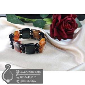 دستبند سنگ عقیق سلیمانی _ کد : 400696