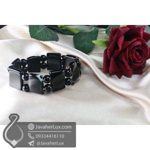 دستبند سنگ عقیق سلیمانی _ کد : 400697