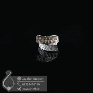 انگشتر نقره زنانه فانتزی طلایی _ کد : 100727