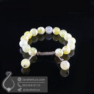 دستبند عقیق برفی _ کد : 400707