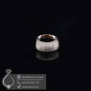 انگشتر نقره زنانه فانتزی طلایی _ کد : 100740