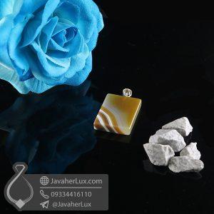 گردنبند سنگ عقیق سلیمانی _ کد : 400731