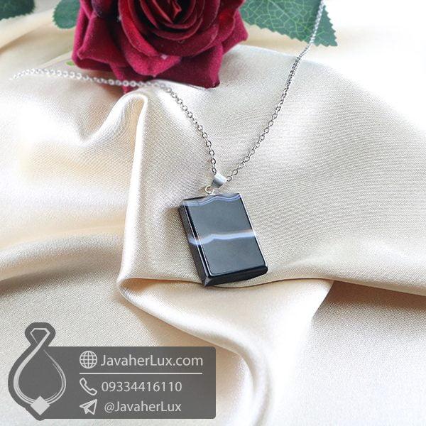 گردنبند سنگ عقیق سلیمانی _ کد : 400733