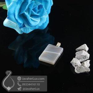 گردنبند سنگ عقیق سلیمانی _ کد : 400736