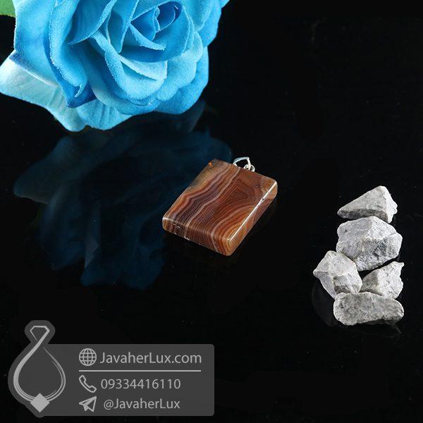 گردنبند سنگ عقیق سلیمانی _ کد : 400738