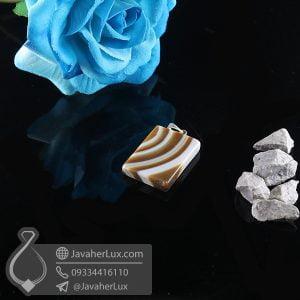 گردنبند سنگ عقیق سلیمانی _ کد : 400742