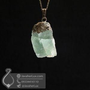 گردنبند سنگ فلورین راف _ کد : 400744