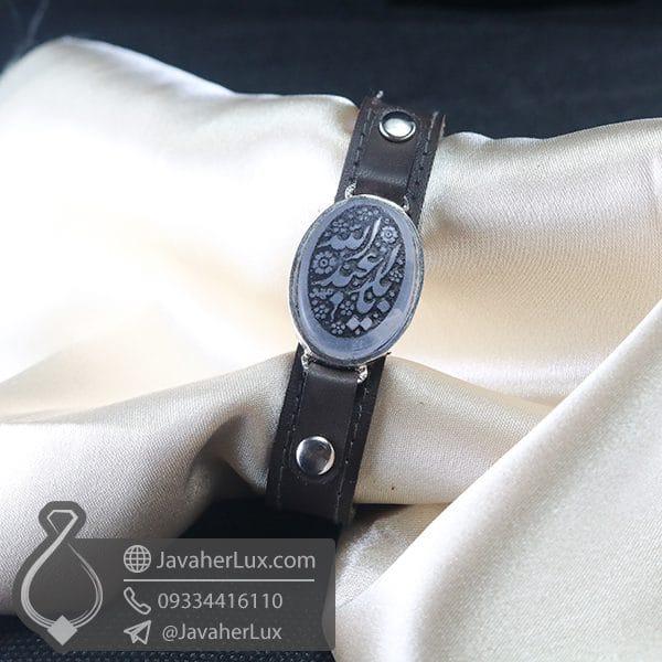 دستبند عقیق کبود حکاکی یا ابا عبدالله _ کد : 400759