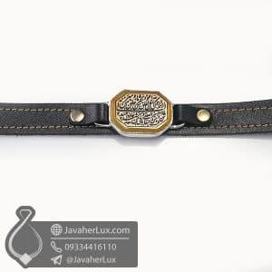 دستبند عقیق زرد حکاکی سوره فلق _ کد : 400779