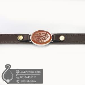 دستبند عقیق قرمز حکاکی حضرت رقیه _ کد : 400782